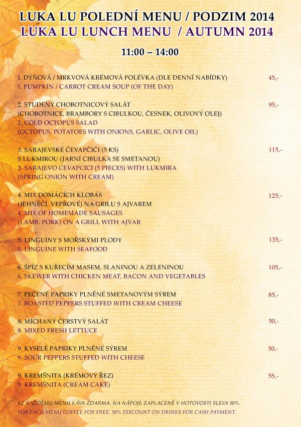 Polední menu