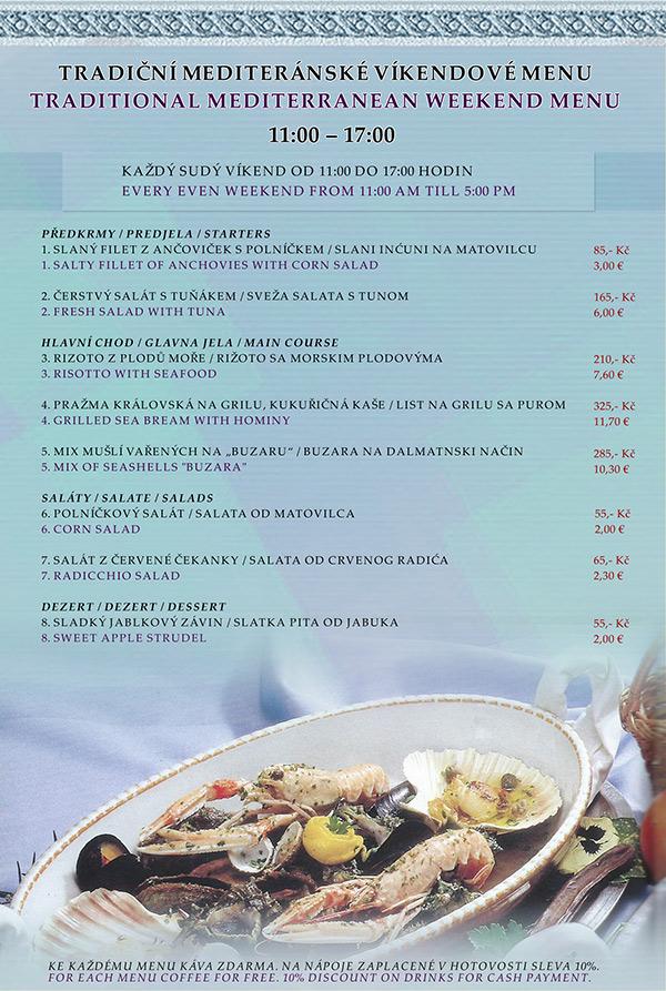Víkendové menu - ryby