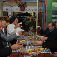 chirurg Edo Jaganjac, businessman Mičo Perič, musician Goran Bregović , former Czech president Václav Havel and composer Michael Kocáb in Luka Lu
