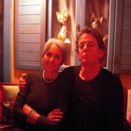 Lou Reed (singer) with Joan Baez (author, singer)