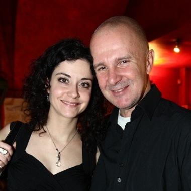 composer Ondřej Soukup with Slovak singer Lucia Šoralová